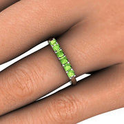 Peridot Stackable Band on Finger Rare Earth Jewelry
