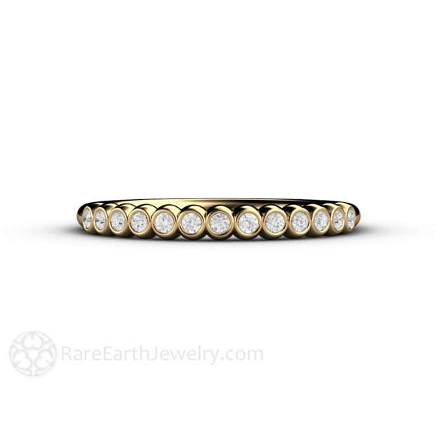 Petite Yellow Gold Diamond Band Rare Earth Jewelry