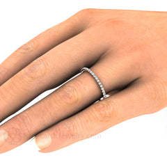 Petite Diamond Right Hand Ring or Wedding Band Rare Earth Jewelry