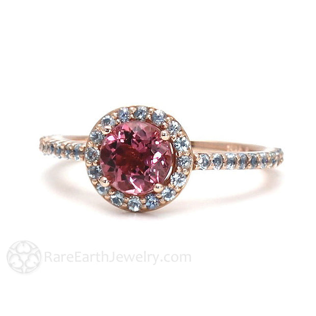 October Birthstone Ring Pink Tourmaline Rare Earth Jewelry