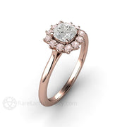 Rare Earth Jewelry April Birthstone Ring White and Pink Diamonds GIA Certified