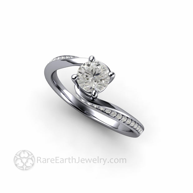 Platinum Solitaire Engagement Ring Ethical Lab Created Diamond Ring