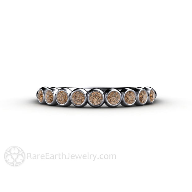 Brown Diamond Bridal Wedding Band Anniversary Ring