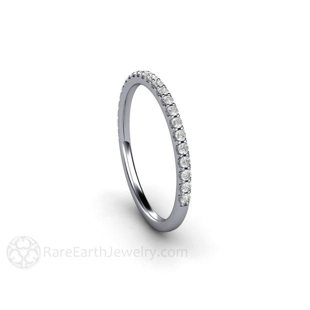 Platinum Diamond Skinny Band Rare Earth Jewelry