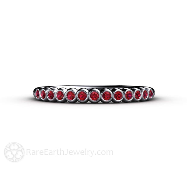 Platinum Ruby Stackable Ring Stacking Band Rare Earth Jewelry