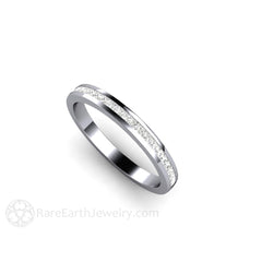 Channel Set Princess Bridal Ring Rare Earth Jewelry