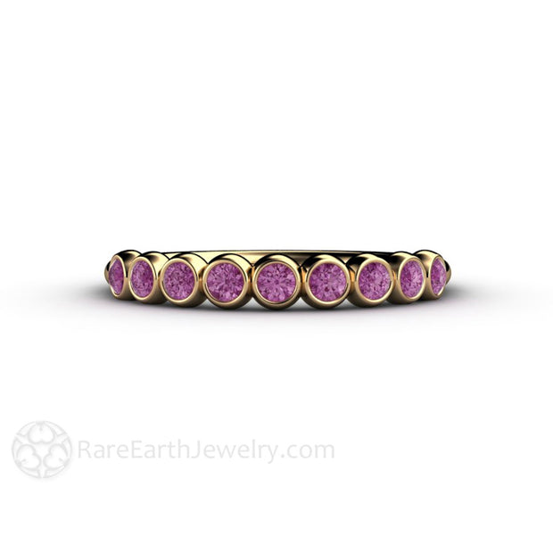 April Birthstone Ring Purple Diamond Stackable Band Rare Earth Jewelry