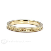 Rare Earth Jewelry 14K Bridal Ring with Filigree Detail and Milgrain Antique Design
