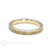 Rare Earth Jewelry 14K Gold Wedding Band Classic Vintage Design