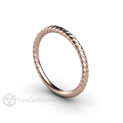 Rare Earth Jewelry 14K Rose Gold Anniversary Band Stackable Ring