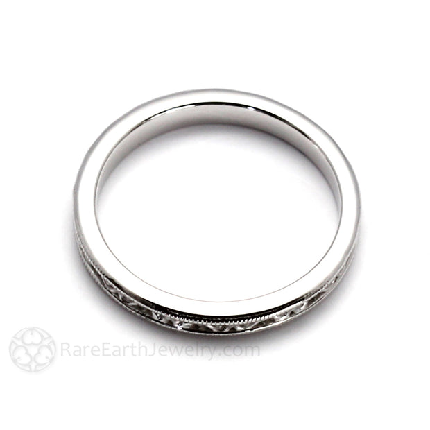 Rare Earth Jewelry 14K White Gold Right Hand Stacking Band Stackable Ring