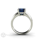 Rare Earth Jewelry 2.75ct Emerald Cut Alexandrite Bridal or Anniversary Ring 14K White Gold