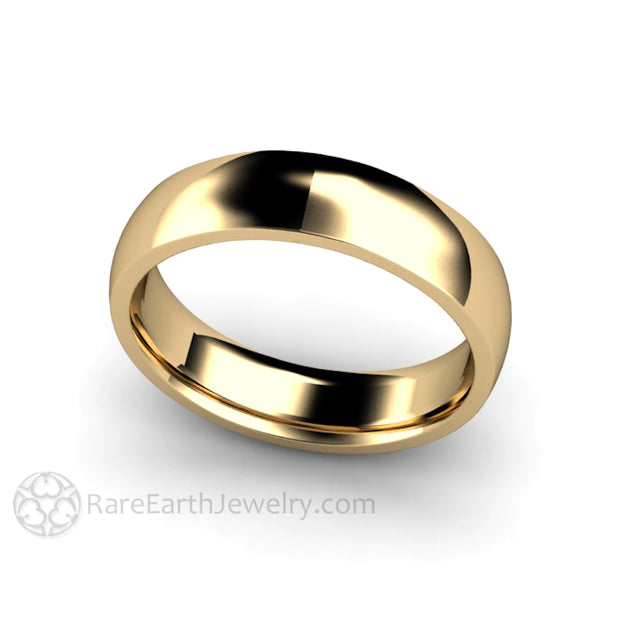 Rare Earth Jewelry 5mm Traditional 14K Solid Gold Wedding Band Comfort Fit Ring