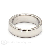Rare Earth Jewelry 6MM Mens Wheat Pattern Band 14K or 18K Solid Gold