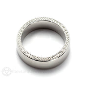 Rare Earth Jewelry 6mm Mens Wedding Band with Woven Wheat Pattern 14K Gold