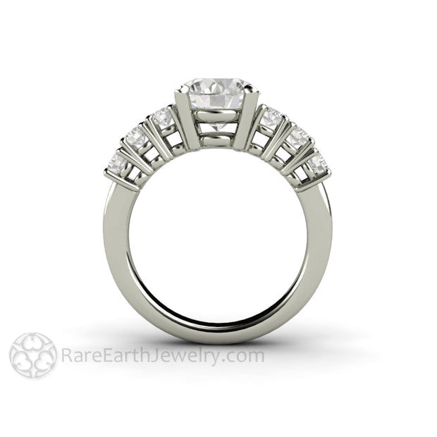 Rare Earth Jewelry 8mm Round Cut Moissanite Ring Diamond Alternative Bridal Ring