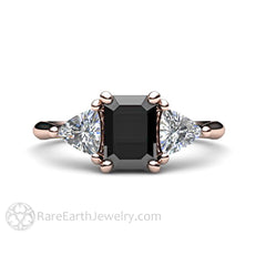 Rare Earth Jewelry Vintage Black Diamond Engagement Ring