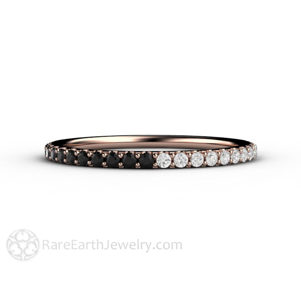 by white platinum main band rings black eternity engagement and luxurman diamond