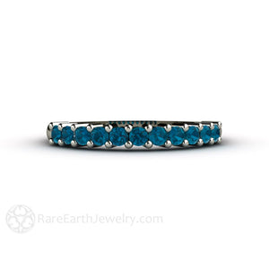 Rare Earth Jewelry London Blue Topaz Stacking Ring