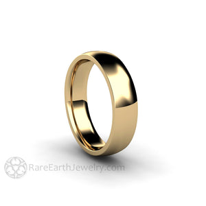 Rare Earth Jewelry Classic Gold Wedding Ring Unisex Matching His and Hers 14K Yellow