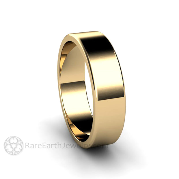 Rare Earth Jewelry Classic Traditional Gold Wedding Ring 14K Yellow Gold 6mm