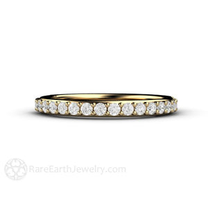 Rare Earth Jewelry Diamond Wedding Ring or Stacking Anniversary Band 14K Gold