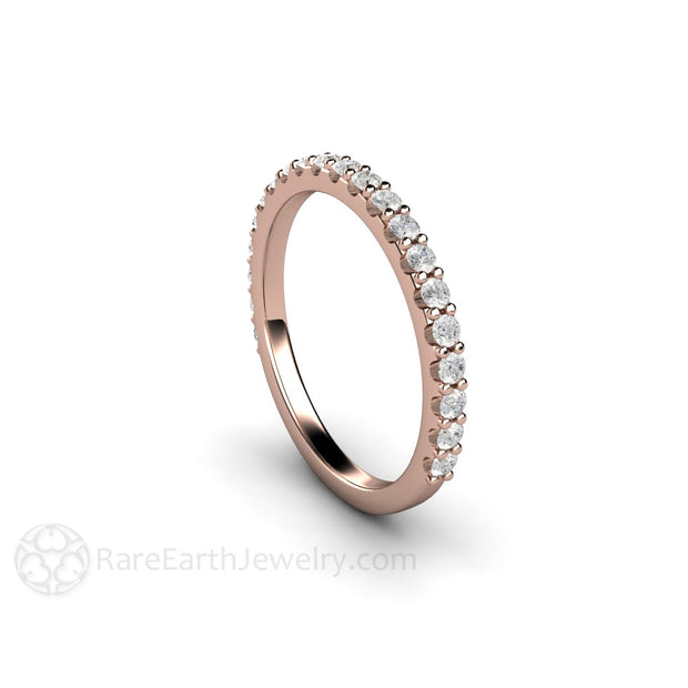 Diamond Stacking Ring 14K Rose Gold Rare Earth Jewelry