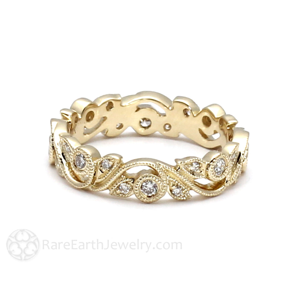bands s baguette diamond wedding and eternity walton band antique estate