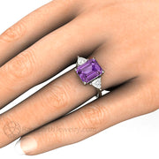 Rare Earth Jewelry Vintage Color Change Sapphire Right Hand Ring on Finger