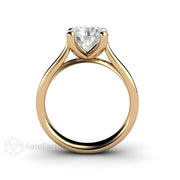 Rare Earth Jewelry Forever One Moissanite Engagement Ring 8mm Round Solitaire