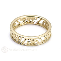 Rare Earth Jewelry Vintage Style 5mm Gold Wedding Ring