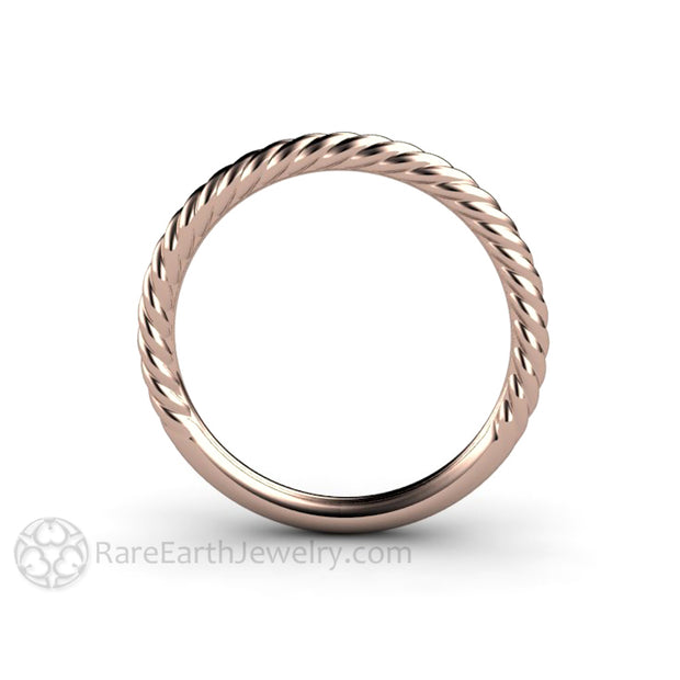 Rare Earth Jewelry Gold Bridal Band Stacking Ring 14K Rose Thin Stackable
