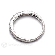 Rare Earth Jewelry Gold Wedding Ring Diamond Accented Rope Gold Twist Setting