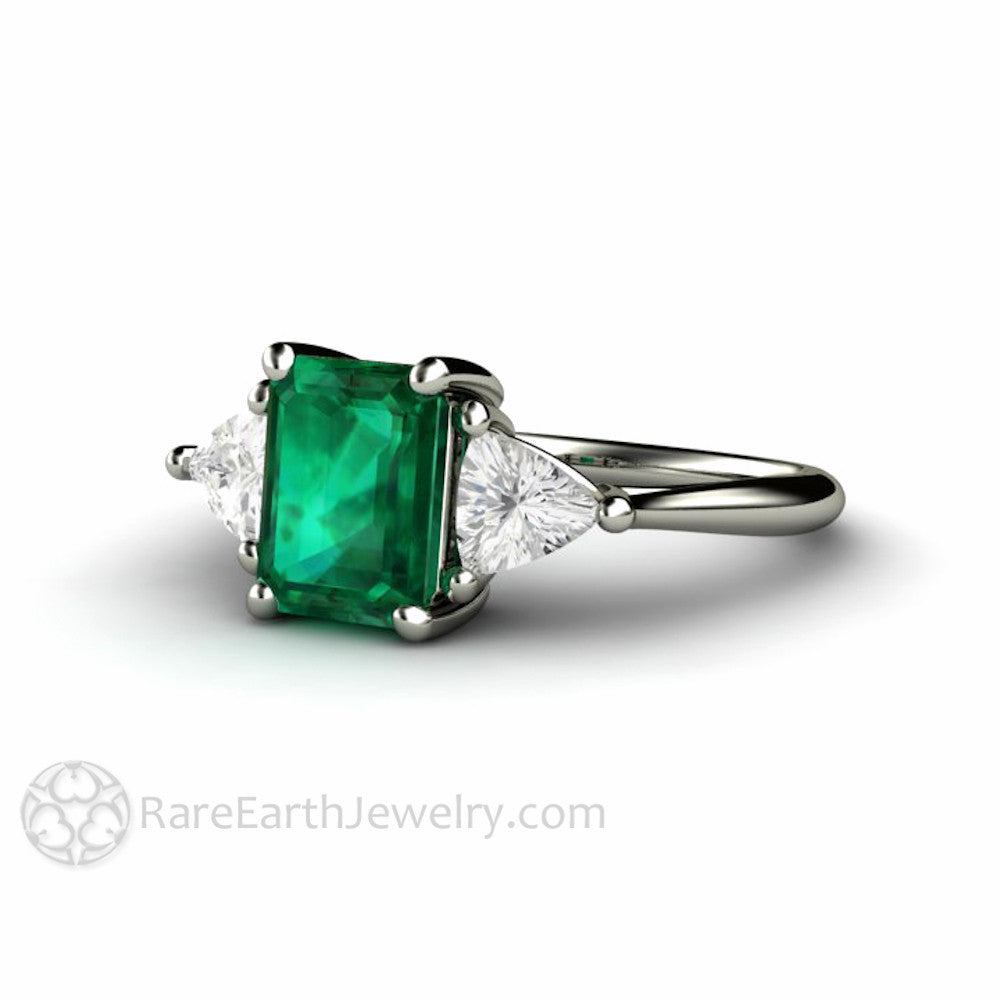 pin emerald diamond rings stones cut halo side baguette ring engagement stone