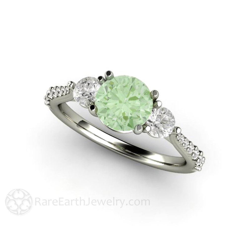 ring white sapphire gold green original on luulla product with wedding in rings