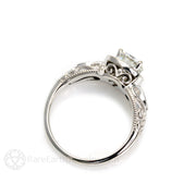Rare Earth Jewelry 14K Vintage Filigree Moissanite Engagement Ring 1 Carat Round Forever One