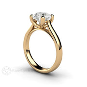 Rare Earth Jewelry Forever One Moissanite Solitaire Wedding Ring 14K or 18K Gold 4 Prong Setting 2ct