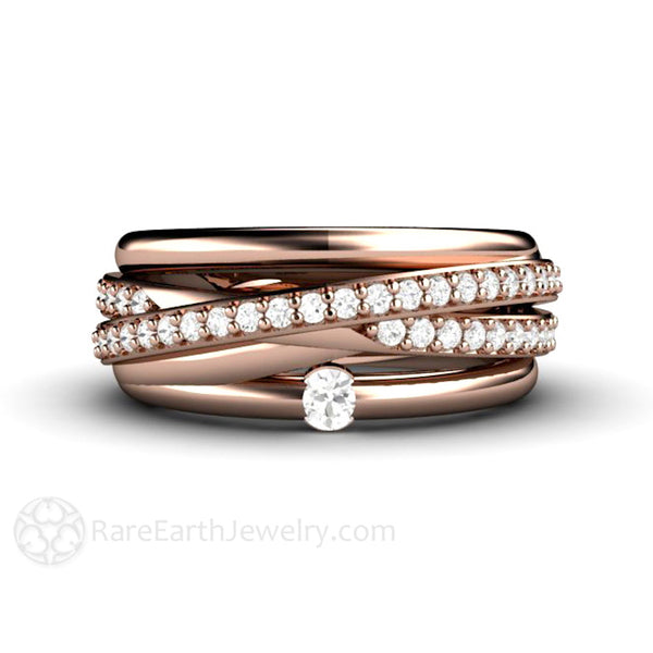 Multi Band All-In-One Wedding Ring Or Anniversary Band