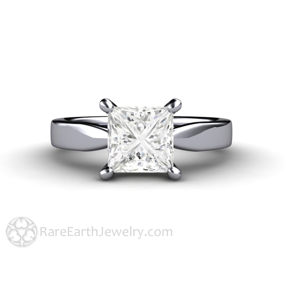 charlize forever cushion engagement carat top cut platinum one product ring moissanite