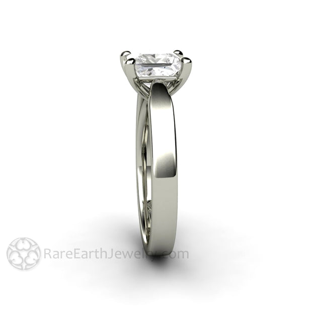 Rare Earth Jewelry Princess Solitaire Moissanite Bridal Ring 1.5 Carat Forever One 14K or 18K Gold 4 Prong Setting