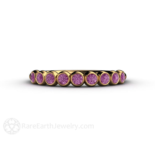 18K Round Cut Natural Purple Diamond Ring Rare Earth Jewelry