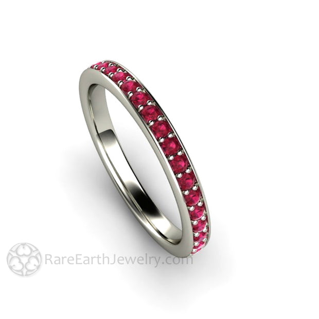 Rare Earth Jewelry Ruby July Birthstone Ring 14K White Yellow or Rose Setting