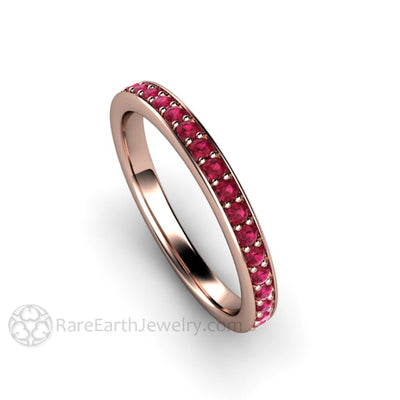 265b46ee5839e Natural Ruby Ring Wedding Band Anniversary Ring in Gold or Platinum ...