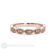 Rare Earth Jewelry Infinity Design Diamond Band in Rose Gold