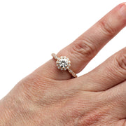 Rare Earth Jewelry Vintage Forever One Moissanite Right Hand Ring on Finger