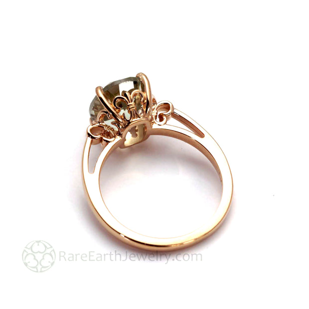 Unique Solitaire Settings Fleur de Lis in 14K Gold