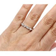 Diamond Stacking Ring 14K on Finger Rare Earth Jewelry