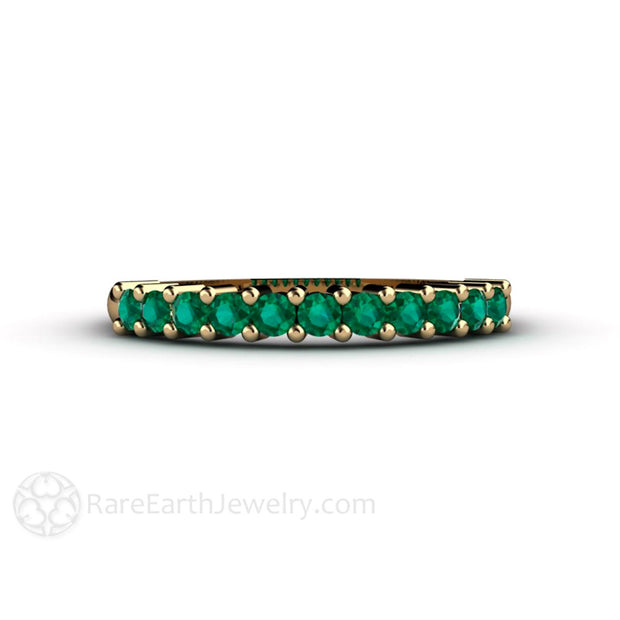 Rare Earth Jewelry May Birthstone Ring 14K Emerald Band