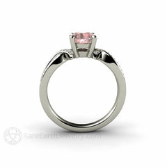 Round Cut Pink Sapphire Ring Rare Earth Jewelry