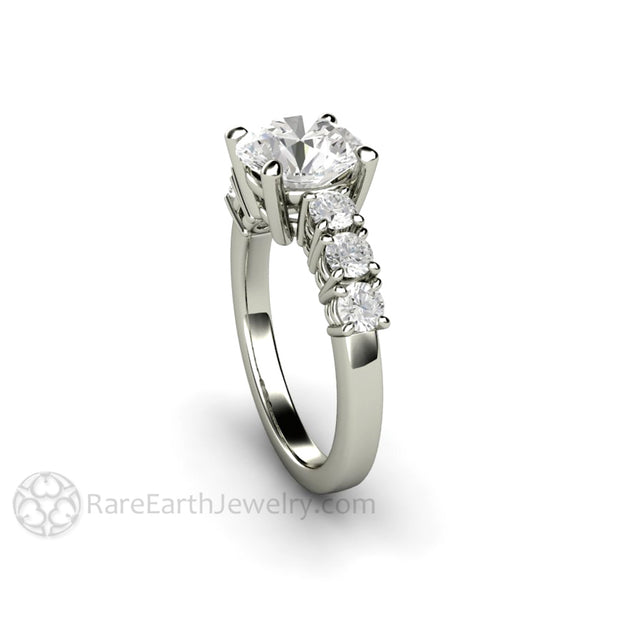 Rare Earth Jewelry 8mm Round Cut Engagement Ring Forever One Moissanite 2ct Colorless 14K